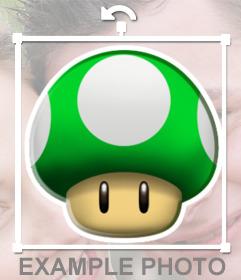 Pegatina de una seta verde de Mario