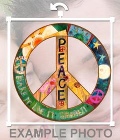 Pegatina con el signo de la paz
