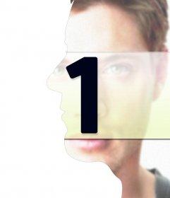 Montaje con fusión entre el perfil y el frontal de tu cara