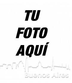 Fotomontaje con la silueta de la ciudad de Buenos Aires para poner en tu foto