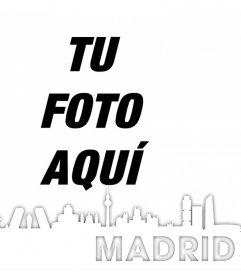 Silueta de la ciudad de Madrid para editar con tu foto gratuitamente