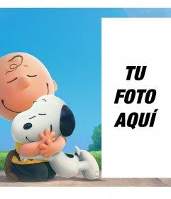 Los mejores amigos Snoopy y Charlie Brown acompañándote en tu foto