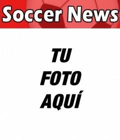 Tu fotografía como portada de una revista inglesa de temática futbolística llamada Soccer News