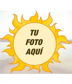 Marco para fotos infantil para poner una imagen dentro de un sol