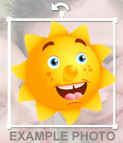 Pegatina de un sol sonriente