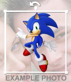 Pegatina de Sonic para poner en tu foto