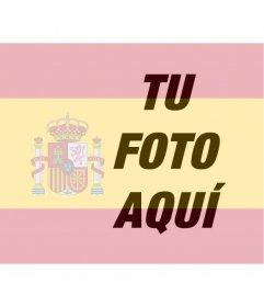 Bandera de españa, fotomontaje para fotos