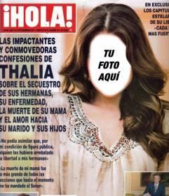Mírate en la portada de la revista HOLA editando ese montaje online