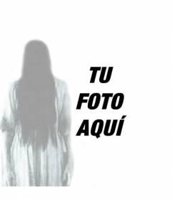 Fotomontaje del fantasma de la niña de THE RING, en el que puedes hacer un montaje como si fuese un espíritu en cualquier foto