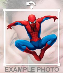 Pegatina de Spiderman saltando para insertar en tu foto