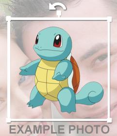 Fotomontaje para añadir al Pokemón Squirtle en tus fotos gratis