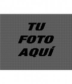 Efecto online de textura de color negro para tus fotos