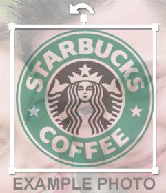 Logo de la famosa cadena de cafeterias Starbucks para insertar en cualquiera de tus fotos con este editor de fotos y logos
