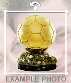 Pegatina con el balón de oro de fútbol