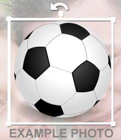 Sticker de un balón de futbol para poner en tus fotos