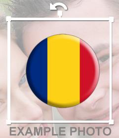 Foto efecto para pegar la bandera de Rumania en forma circular en tus imágenes