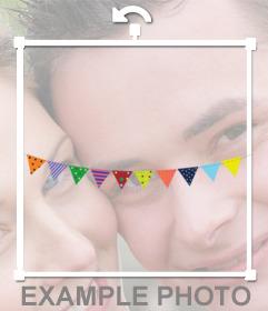 Banderines de fiestas que puedes añadir a tus fotos online para decorar