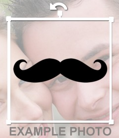 Stickers de un bigote Hispter para poner en tu foto