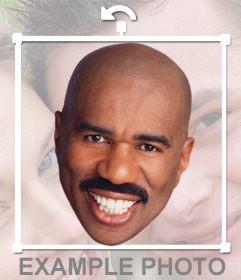 Sticker de la cara de Steve Harvey para poner en tus fotos