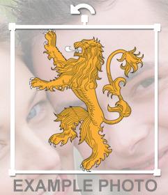 Sticker de la Casa Lannister de la serie Juego de Tronos