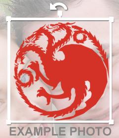 Si eres de la casa Targaryen entonces pon este sticker en tus fotos