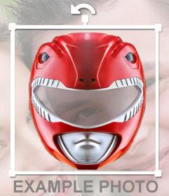 Fotomontaje para añadir la máscara del Power Ranger rojo en tus imágenes