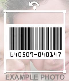 Divertido sticker de un código de barras para poner en tus fotos