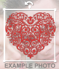 Un corazón con un diseño tribal para decorar tus fotos
