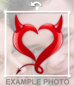 Fotomontaje para añadir un corazón de diablillo a tus fotos