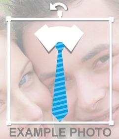 Corbata azul para colocarte en tus fotos y gratis
