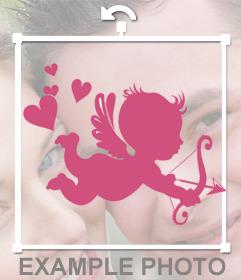 Sticker de Cupido para poner encima de tus fotos