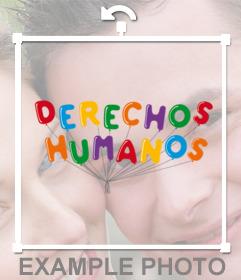Sticker de globos de colores de los Derechos Humanos