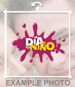 Sticker online para decorar tus fotos y celebrar el DÍA DEL NIÑO