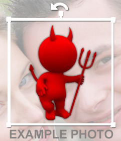 Diablito rojo para pegar en tus imágenes con este sticker