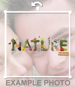 Original sticker de NATURE con animales y plantas para poner en tus fotos
