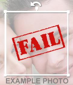 Sticker de FAIL para poner en tus fotos