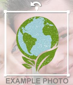 Cuida la Naturaleza poniendo este sticker de la tierra en tus fotos