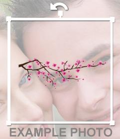 Flores de cerezo para pegaren tus fotos y decorarlas online