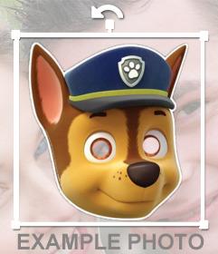 Máscara de Chase de la Patrulla Canina para tus fotos