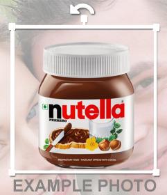 Si eres amante de la NUTELLA entonces pon este sticker en tus fotos