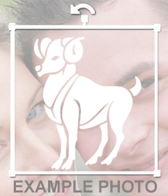 Sticker del signo zodiacal Aries para que puedas colocarlo en tus fotos