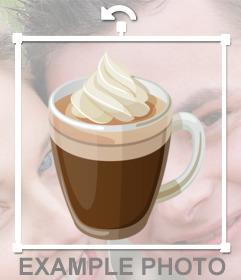 Taza de café para pegar en tus fotos como un sticker