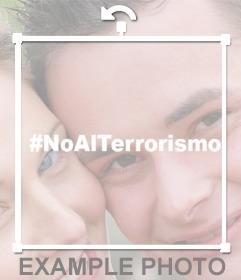 Pega en tus fotos el hashtag de #NoAlTerrorismo con este sticker