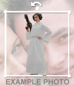 Fotomontaje de la Princesa Leia Organa para añadir a tus fotos con este efecto