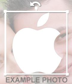Sticker decorativo del logo de Apple para pegar en tus imágenes