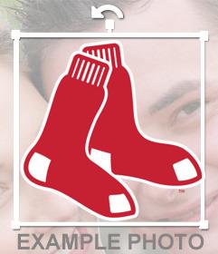 Sticker del logo de las Medias Rojas de Bostón para poner en tus fotos