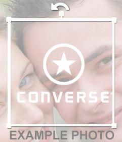 Logo de la famosa marca de zapatos CONVERSE para añadir en tus fotos