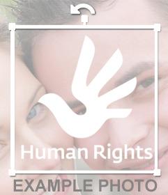 Sticker online del logo de los Derechos Humanos