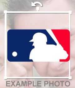 Sticker del logo de las Grandes Ligas de Béisbol para tu foto