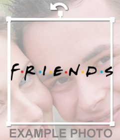 Logo de la famosa serie FRIENDS para poner en tus fotos